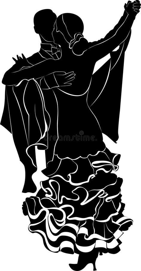 Ballroom dancing vector illustration