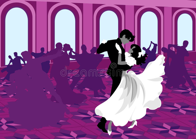 Ballroom dansen. royalty-vrije stock foto