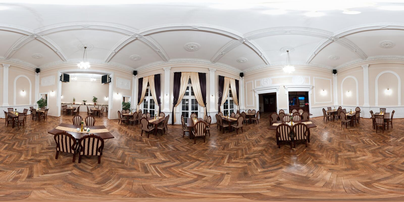 Ballroom panorama stock photos