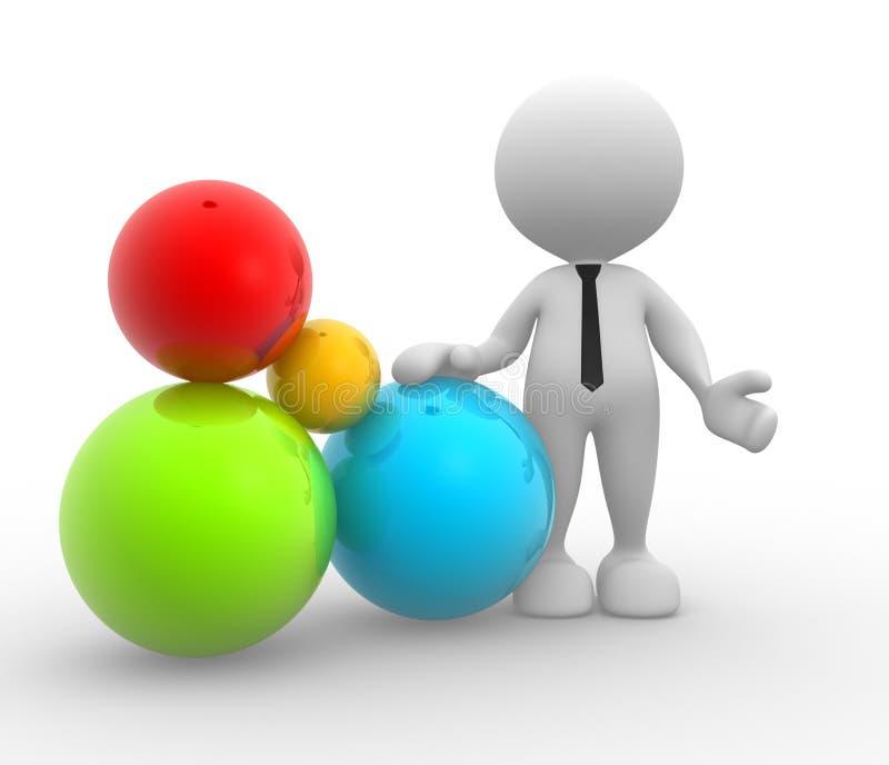 Download Balls stock illustration. Image of acrobatic, cooperation - 26343948