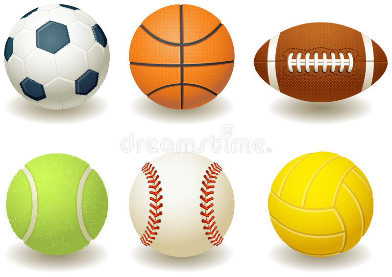 Balls. Vector illustration - Balls for team sports