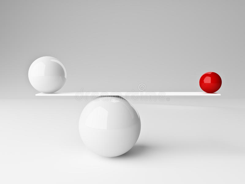 Balls balance stock illustration