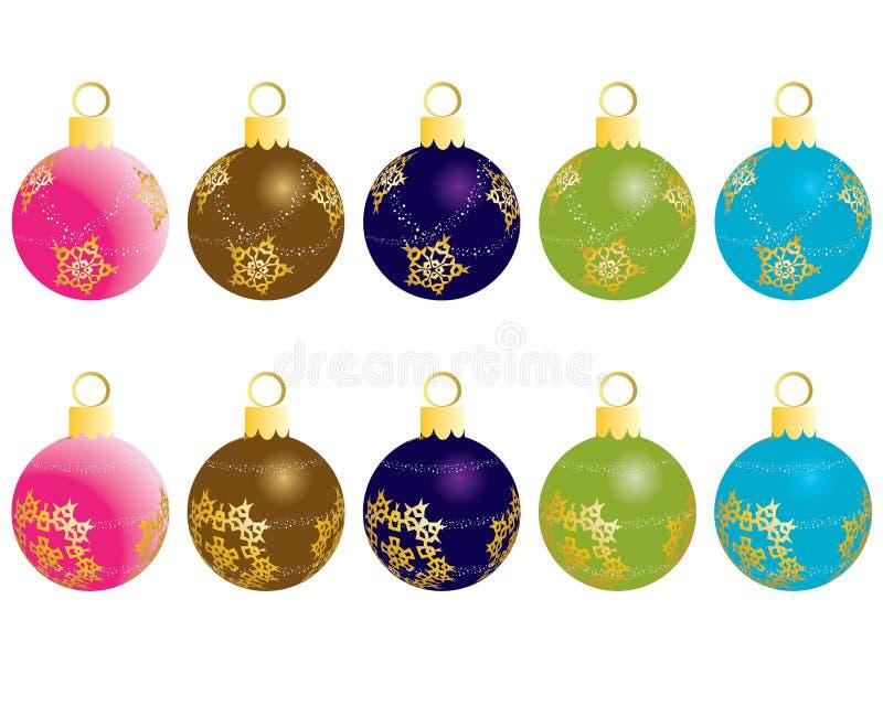 balls christmas иллюстрация вектора