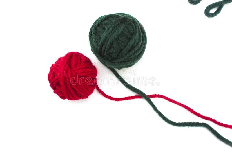 Balls of colorful yarn. On a white backgtound royalty free stock images