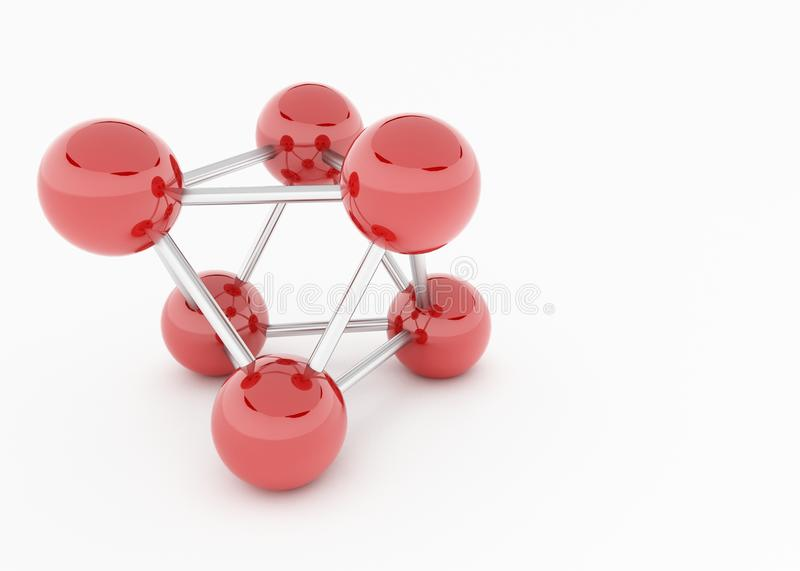 Balls connected. A display of connected balls to show a pattern or an atom vector illustration