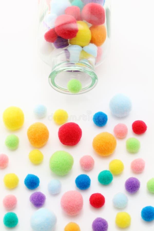 Balls of cotton royalty free stock photos
