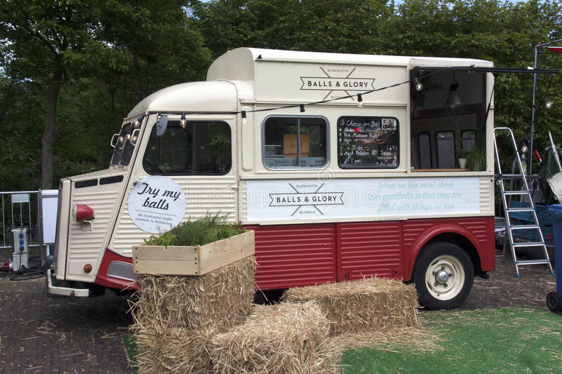 Download Balls And Glory Food Truck In Amsterdam Editorial Image