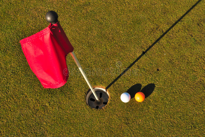 Download Balls golf next to to hole stock photo. Image of bogey - 22956552