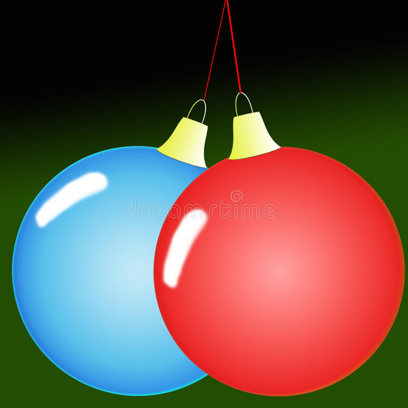 Balls of native. Image vectorial representing two balls of native united among them stock illustration