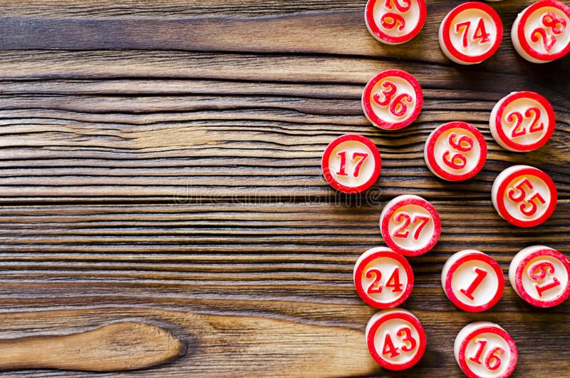 Balls with numbers for play bingo stock photography