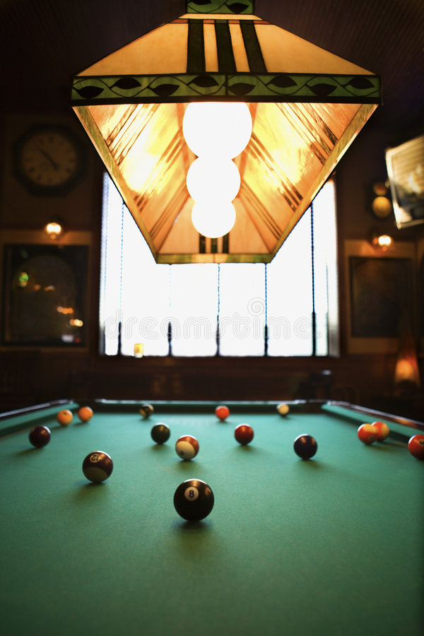 Download Balls on pool table. stock image. Image of nightlife, still - 2044077
