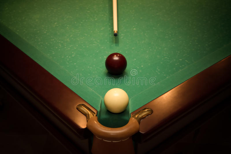 Balls for russian billiards royalty free stock photo