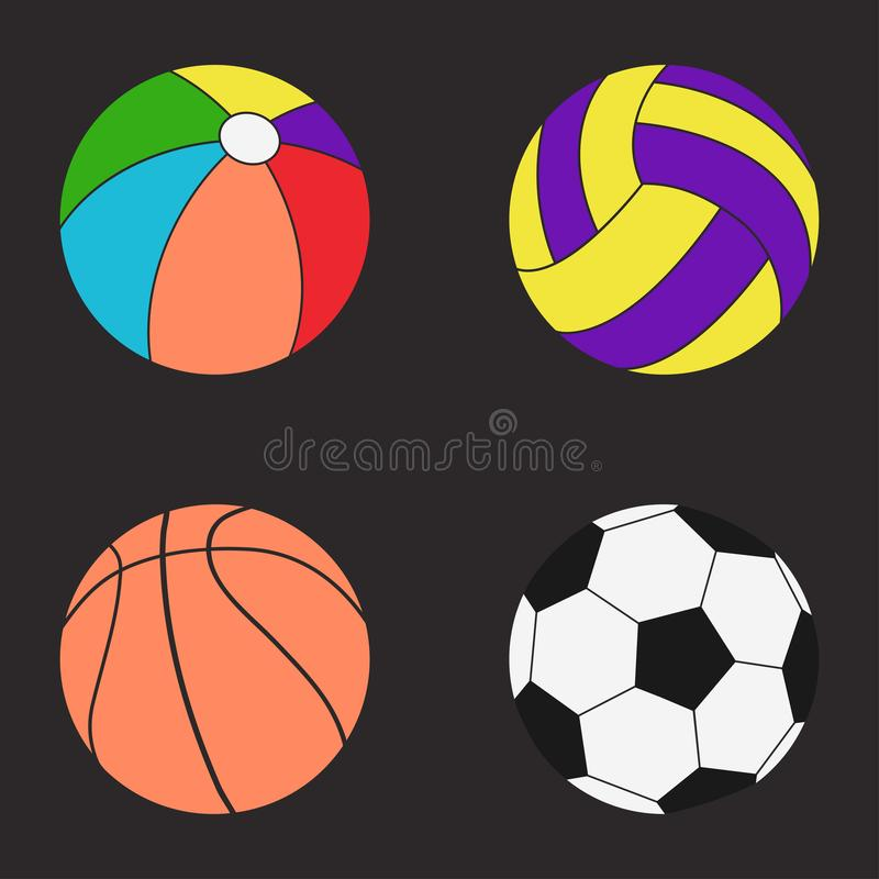 Download Balls Set Color Stock Vector Illustration Of Graphic