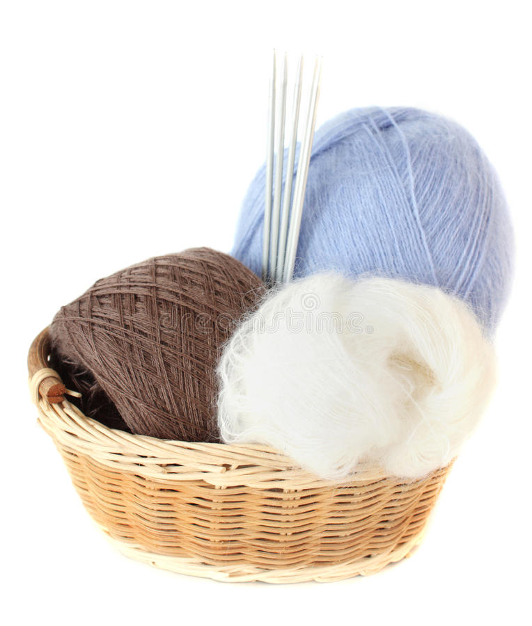 Download Balls Of Threads In A Basket Stock Image - Image: 22476143