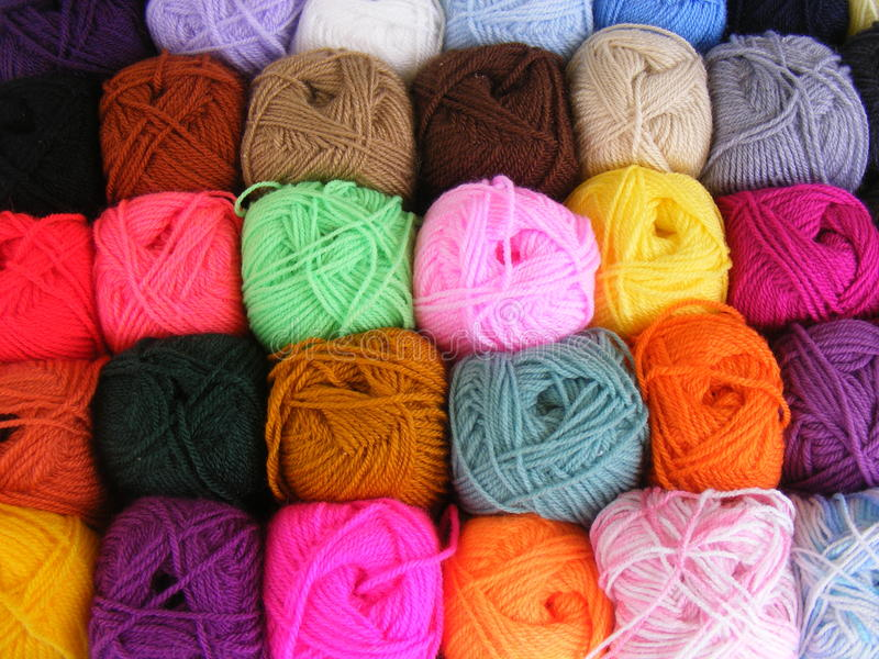 Balls Of Wool Royalty Free Stock Images