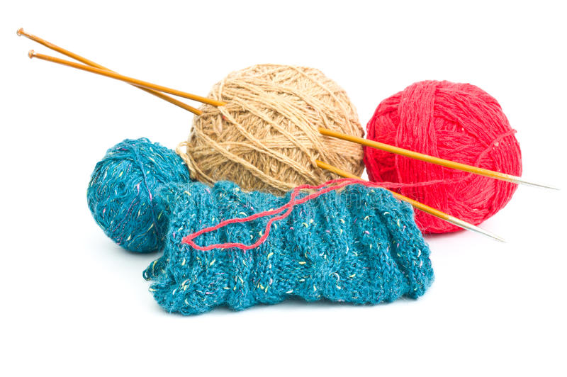 Download Balls of wool stock photo. Image of ball, needles, knitting - 23559270