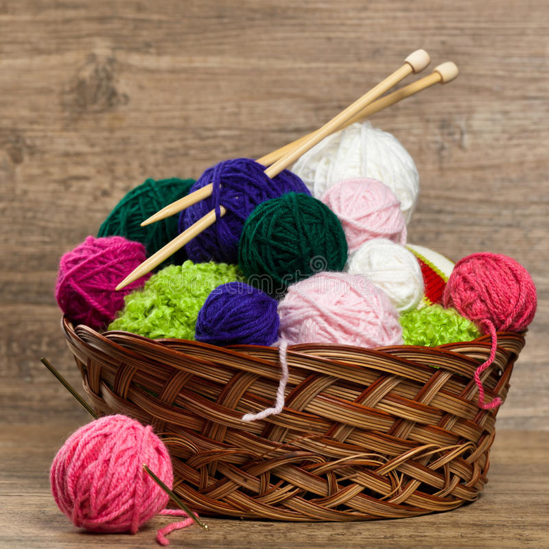 Balls of yarn stock image