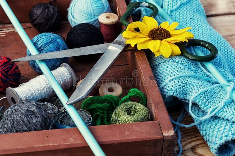 Balls of yarn for knitting royalty free stock image