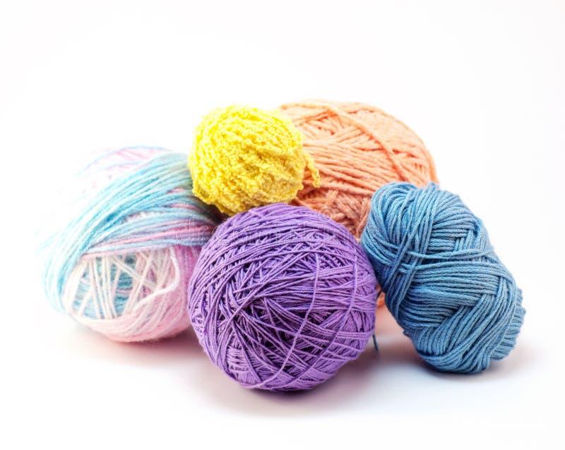 Balls of yarn. On white background royalty free stock photo