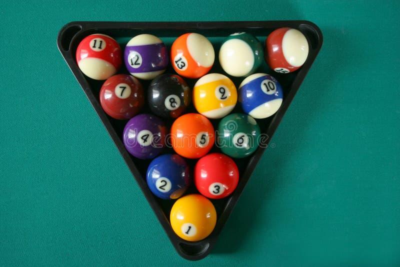 balls5台球 免版税库存照片