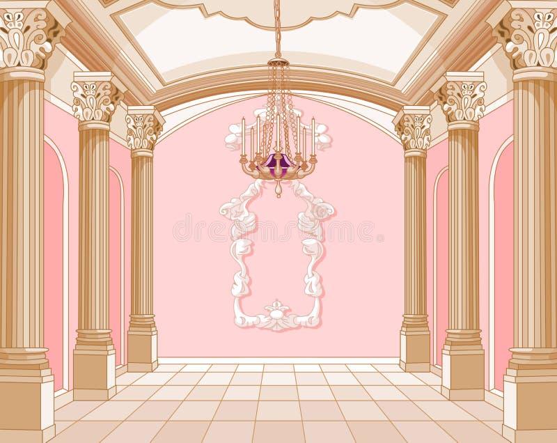 Ballsaal des magischen Schlosses lizenzfreie abbildung
