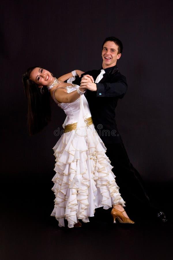 Ballsaal-Tänzer-Weiß 01 lizenzfreies stockbild