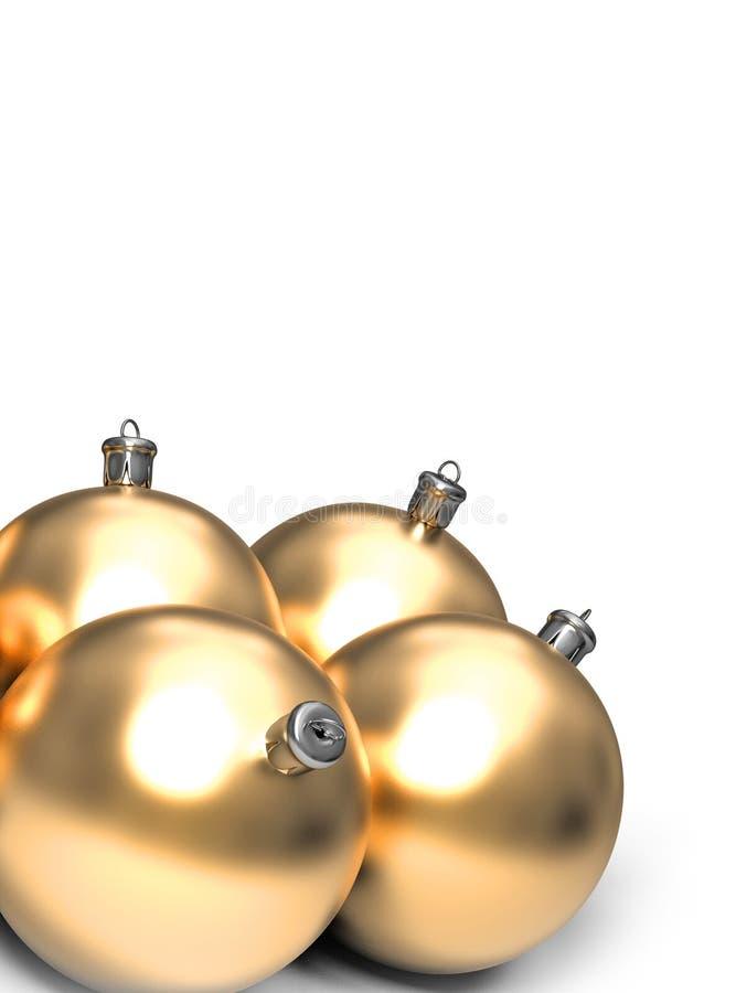 Ballso dorato di natale royalty illustrazione gratis