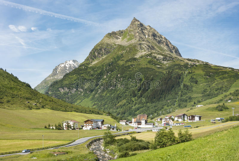 Ballunspitze in de Oostenrijkse Alpen royalty-vrije stock foto