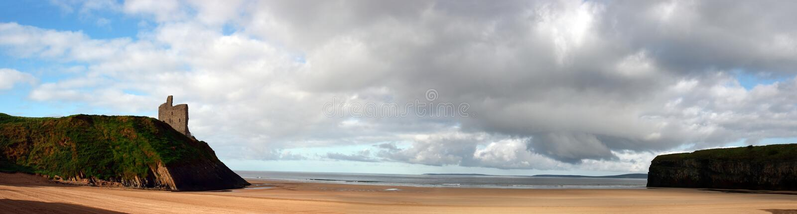 Download Ballybunion beach panorama stock photo. Image of cliffs - 6752288