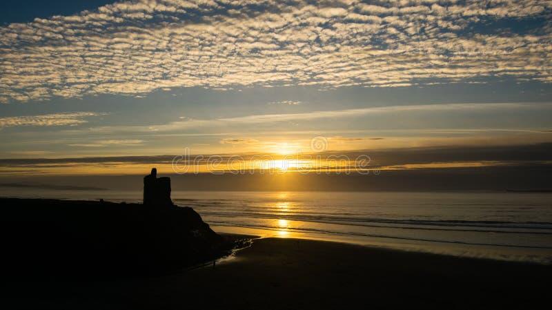 Ballybunions-Sonnenuntergang lizenzfreies stockbild