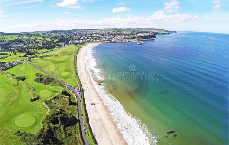 Ballycastle Beach co.Antrim n.Ireland. By Ballygally View Images stock photo