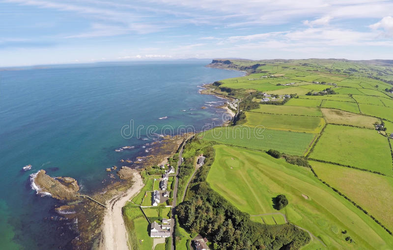 Ballycastle co.Antrim. N.Ireland sea ocean by Ballygally View Images stock image