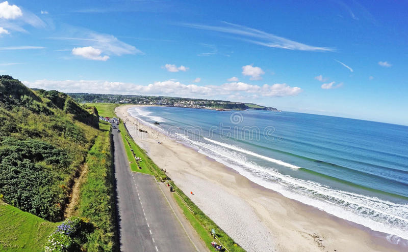 Ballycastle Northern Ireland. By Ballygally View Images stock photography