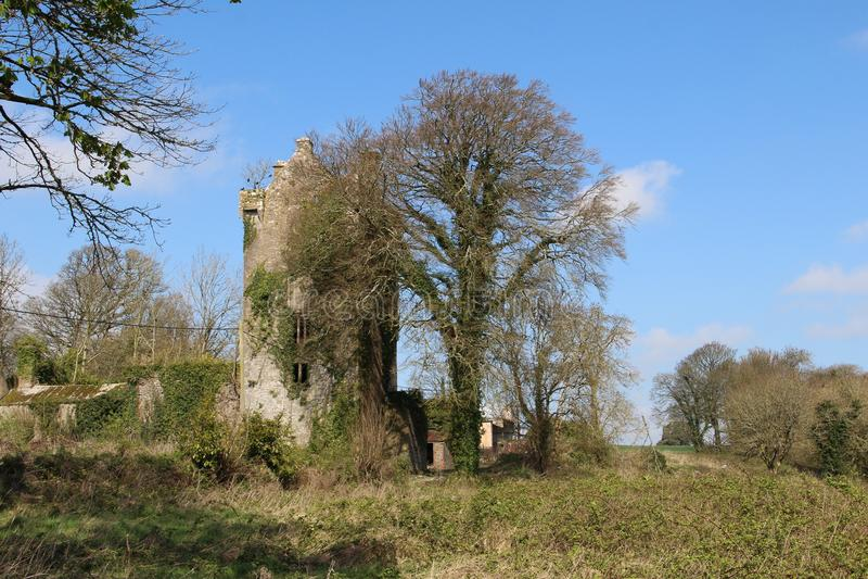 Ballyclogh Castle Cork Ireland. With blue skies stock photos