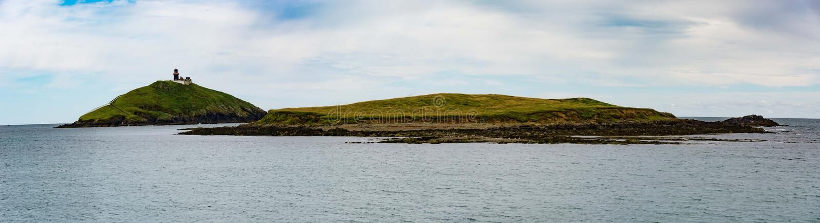 Ballycotton Light House & Island royalty free stock photos