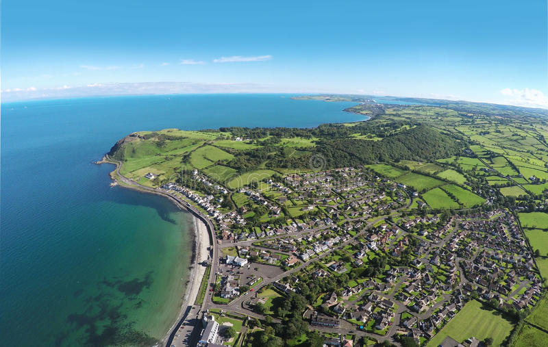 Ballygally Co. Antrim Northern Ireland. Ballygally head Larne sea by Ballygally View Images royalty free stock photography