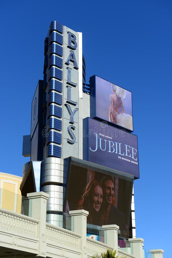 Ballys, Las Vegas, Nanovolt stockbild