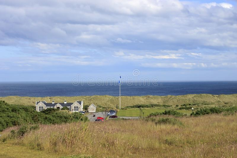 Donald Trump`s International Golf Links. Balmedie, Aberdeenshire, Scotland royalty free stock images