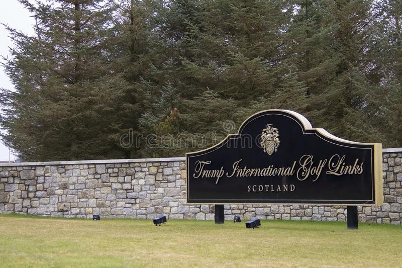 Donald Trump`s International Golf Links. Balmedie, Aberdeenshire, Scotland royalty free stock image