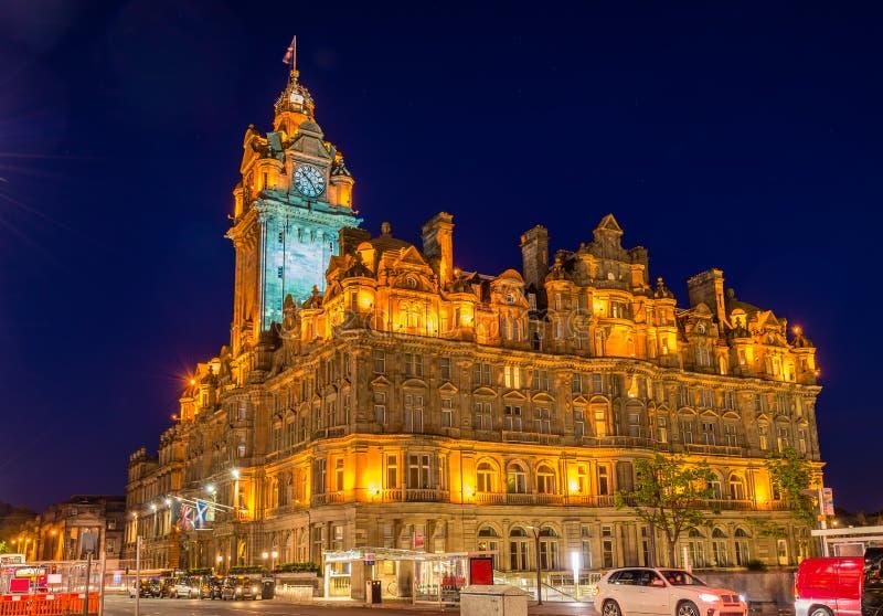 The Balmoral Hotel, a historic building in Edinburgh. Scotland stock photography