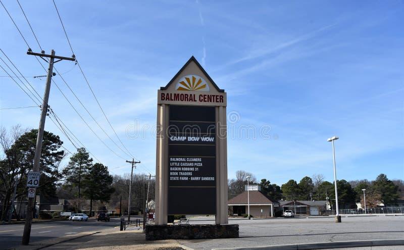 Balmoral mitt, Memphis, TN fotografering för bildbyråer