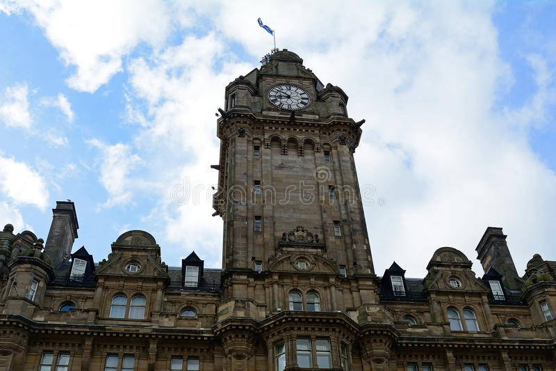 Balmoralhotel, Edinburgh, Schotland stock fotografie