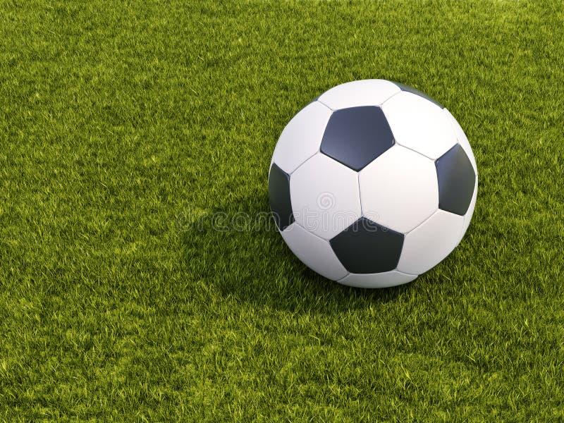 Download Bal?n de f?tbol en hierba imagen de archivo. Imagen de atlético - 41921849