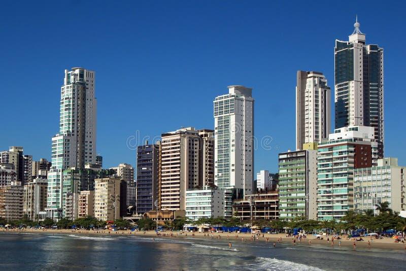 Balneario Camboriu - Brazil. City View of Balneario Camboriu in Brazil royalty free stock image
