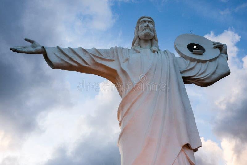 Balneario Camboriu, Brazilië - November 2, 2017: Cristo Luz stat stock foto