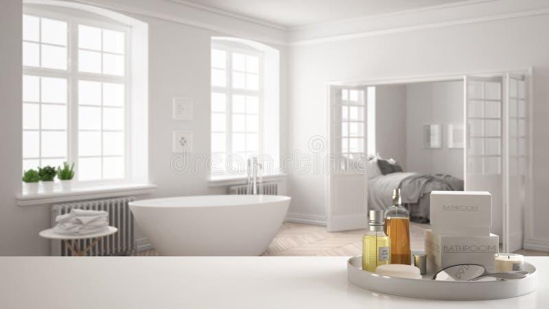 Balneario, Concepto Del Hotel Sobremesa O Estante Blanca ...