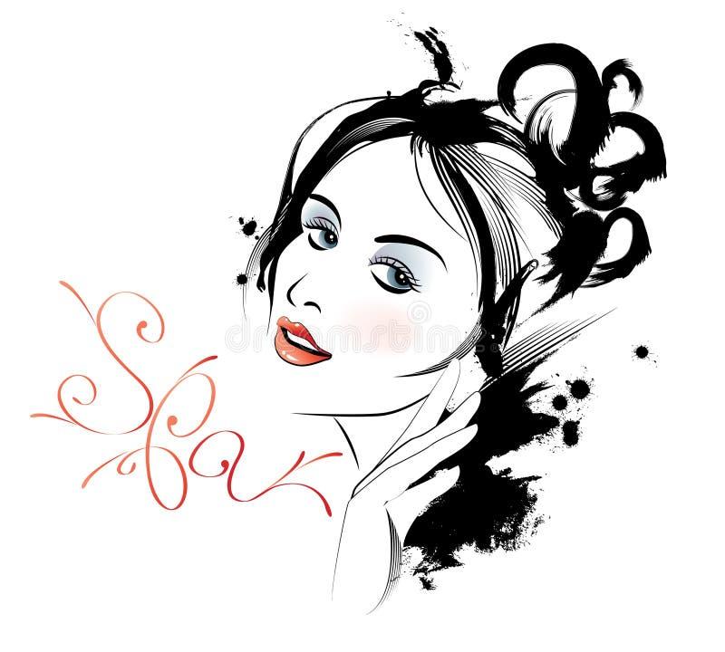 Balneario de la belleza stock de ilustración