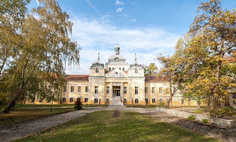 Balneario del yodo - hospital en institución médica pública de la atención sanitaria de Novi Sad, Serbia fotos de archivo libres de regalías