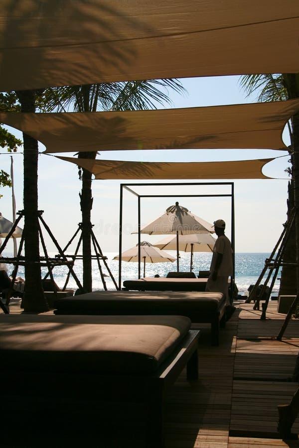 BALNEARIO en la playa fotografía de archivo libre de regalías
