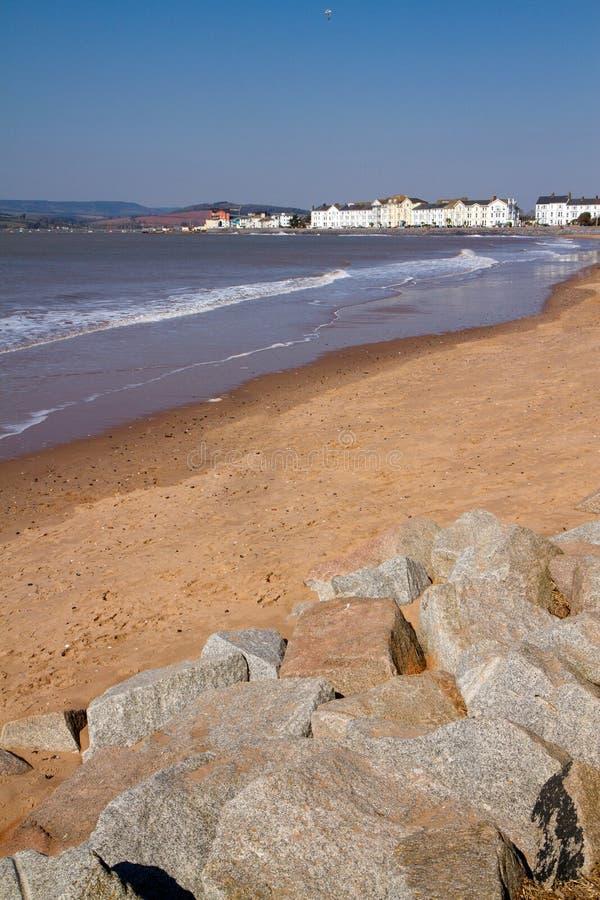 Playa Devon Inglaterra de Exmouth imagen de archivo libre de regalías